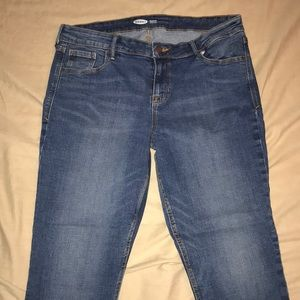 Old navy rockstar super skinny cut off jeans